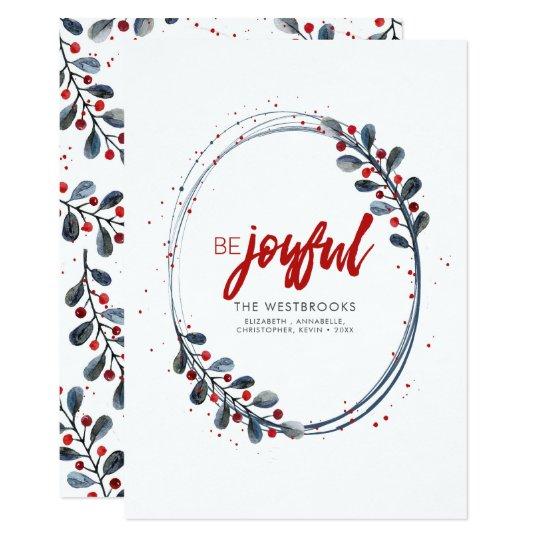 Be Joyful Modern Holiday Card