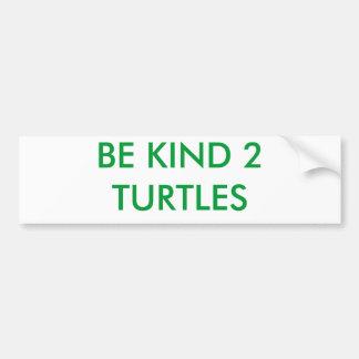 BE KIND 2 TURTLES BUMPER STICKER
