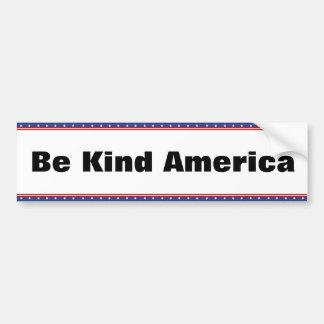 Be Kind America Bumper Sticker