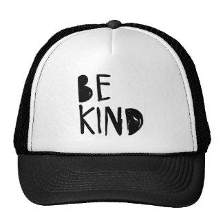 Be Kind | Black Brush Script Style Hat