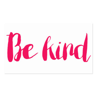 Be Kind Calling Card Pack Of Standard Business Cards