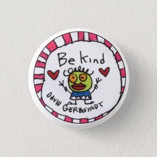 Be Kind girl 3 Cm Round Badge
