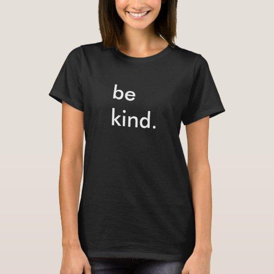 Be Kind Ladies Black T-Shirt