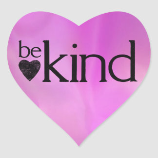 Be Kind motivational stickers