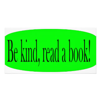 Be kind read a book picture card