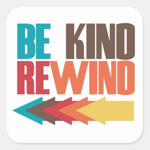 Be Kind Rewind retro 80s humor Sticker