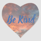 Be Kind Sunrise Clouds Heart Inspiration Stickers