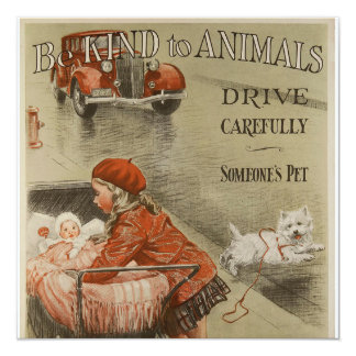 Be kind to animals 2PS Card