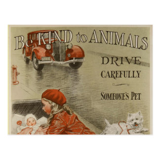 Be kind to animals 2PS Postcard