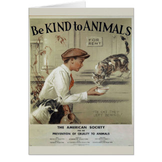 Be Kind to Animals - Abandoned Animals, Card