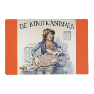 Be Kind To Animals laminated placemat