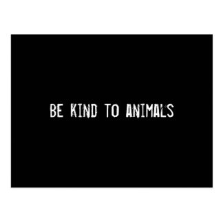 Be kind to animals postcard
