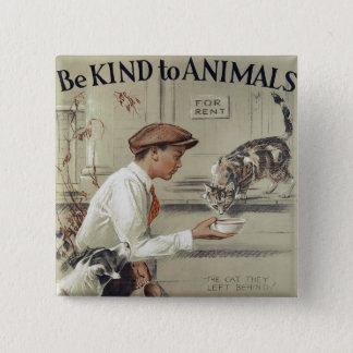 Be Kind to Animals - Vintage Poster 15 Cm Square Badge