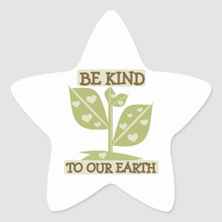 Be Kind to our Earth T-shirts and Gifts Star Sticker