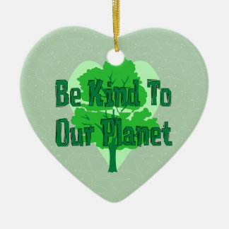 Be Kind To Our Planet Ceramic Heart Decoration