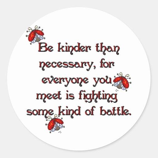 Be Kinder Round Stickers