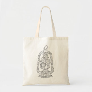 Be Light Encouragement Doodle Lamp Tote Bag