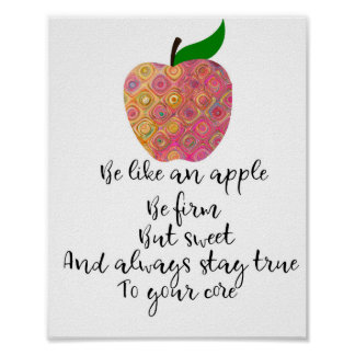 Be Like an Apple Motivational Poster