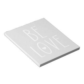 Be Love Heart Notepad