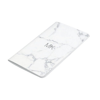 be marble pocket journal with custom initial name