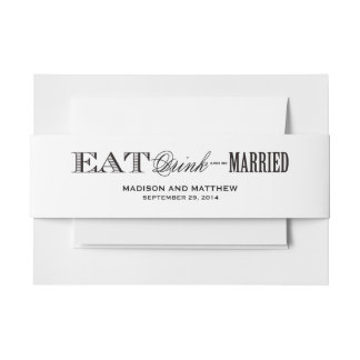 & Be Married | Belly Bands Invitation Belly Band
