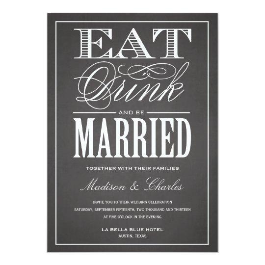 BE MARRIED CHALKBOARD | WEDDING INVITATION