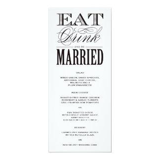Be Married   Menu Card