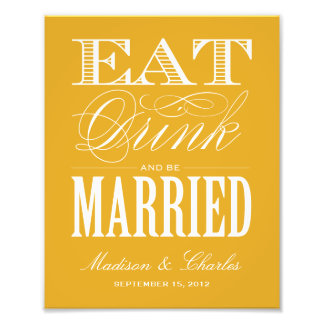 & BE MARRIED | RECEPTION PRINT PHOTOGRAPH