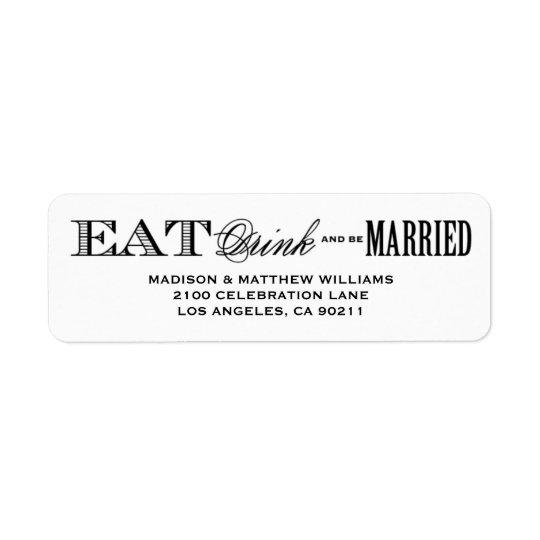 Be Married   Return Address Label