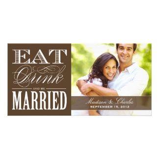 & BE MARRIED   SAVE THE DATE ANNOUNCEMENT CUSTOMISED PHOTO CARD