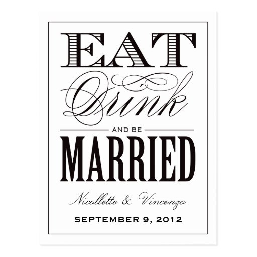 BE MARRIED | SAVE THE DATE ANNOUNCEMENT POST CARD