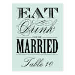 & BE MARRIED   TABLE NUMBER POSTCARD
