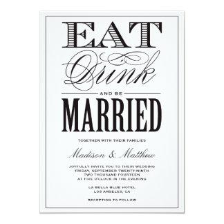 "Be Married | Wedding Invitation 5"" X 7"" Invitation Card"