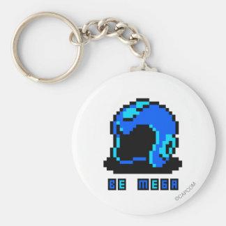 Be Mega Basic Round Button Key Ring