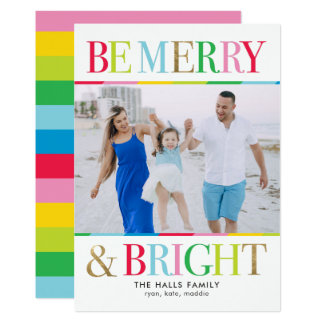 Be Merry And Bright Holiday Photo Card