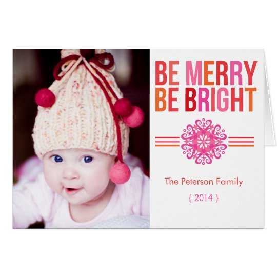 BE MERRY BE BRIGHT Folded Christmas Card