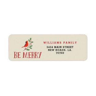 Be Merry Cardinal Christmas