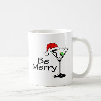 Be Merry Christmas Martini Mugs