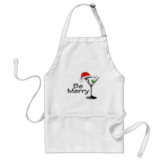 Be Merry Christmas Martini Standard Apron