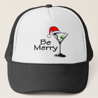 Be Merry Christmas Martini Trucker Hat