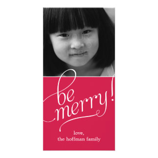 Be Merry Christmas Photo Card Photo Card Template