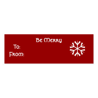 Be Merry - Customized Pack Of Skinny Business Cards