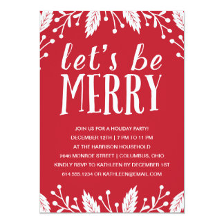 Be Merry | Holiday Party Invitation