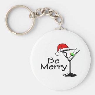Be Merry Martini Key Ring