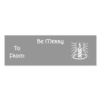 Be Merry Pack Of Skinny Business Cards