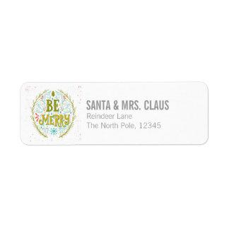 Be Merry Return Address Label