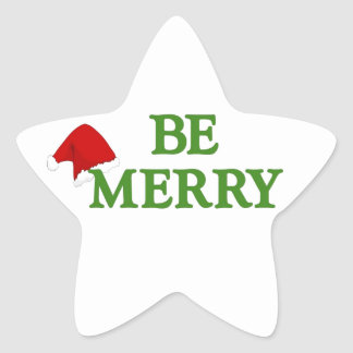 BE MERRY this holiday with these terrific gifts! Star Sticker