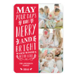 Be Merry Type | Holiday Photo Card 13 Cm X 18 Cm Invitation Card