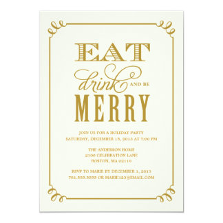 BE MERRY VINTAGE | HOLIDAY PARTY INVITATION