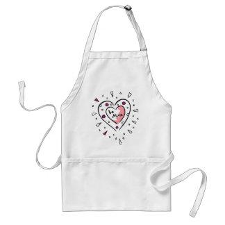 Be Mine Abstract Heart Art Standard Apron
